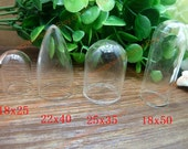10 Cylinder Little Clear Glass Bottles, Round Shape High Quality Clear Glass Mini Landscape Bottle Pendant Covers T-n112, n113, n114, n115