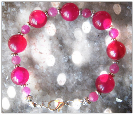 Beautiful Handmade Silver Bracelet with Pink Alexandrite