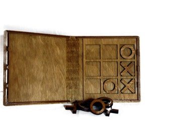 Tic-Tac-Toe - HANDMADE - Beautiful Baltic Birch Library Case