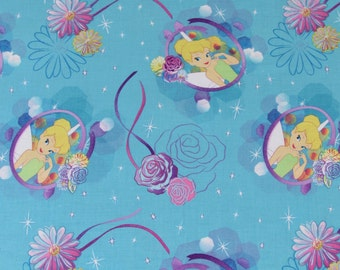 Disney Fabric Tinkerbell  Fabric Petal Perfect Cameo From Springs Creative