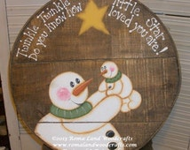 Painting PATTERN for TWO Snow MOMS that can be painted onto any surface