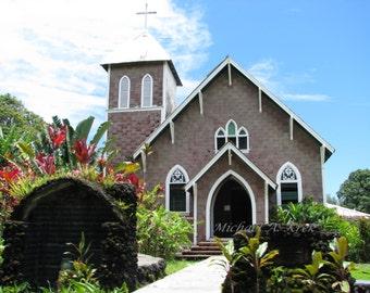 Island Church Photography Print 8 x 10