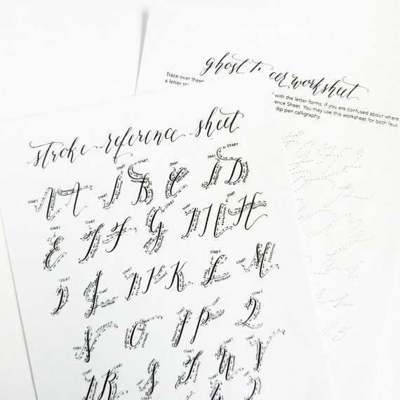 printable calligraphy worksheets   kaitlin style by