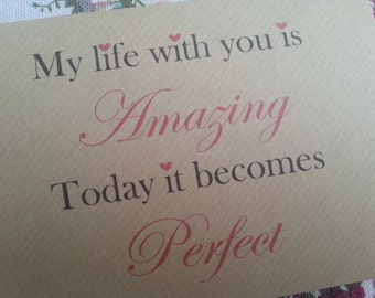 My Life With You...Wedding Day Card