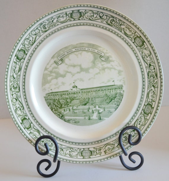 Hotel Collection Plates: Grand Hotel Mackinac Island Michigan Old English STAFFORDSHIRE