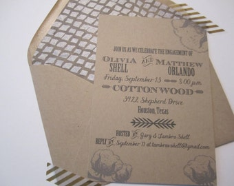 Cotton Boll Invitation