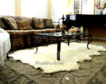 Promo 50 OFF 5 X 6 Sheepskin Faux Fur Rug 8 Pelts In 1 Living Room