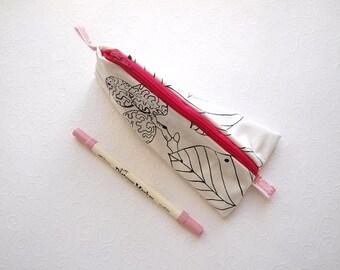 Lente tas, pin map, cosmetische wit roze