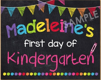 Kindergarten nailed it graduation sign 2015 instant download for First day of school sign template