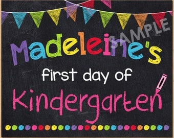 first day of school sign template - kindergarten nailed it graduation sign 2015 instant download