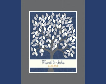 Guestbook Alternative with 120 Leaves, Wedding Guest Signature Tree, Guest Book Tree, Signature Tree, Wedding Guest Signature Tree