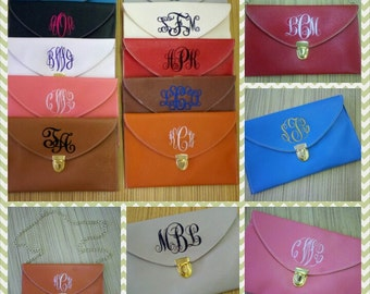 Monogrammed Clutch Crossbody Purse