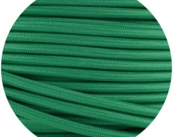 Fabric Textile cable wire for Lighting Round 2x0.75 in green  EGST