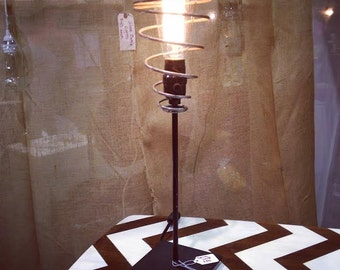 Industrial Spring Lamp with Eddison Bulb