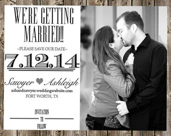 Save The Dates - Black and white