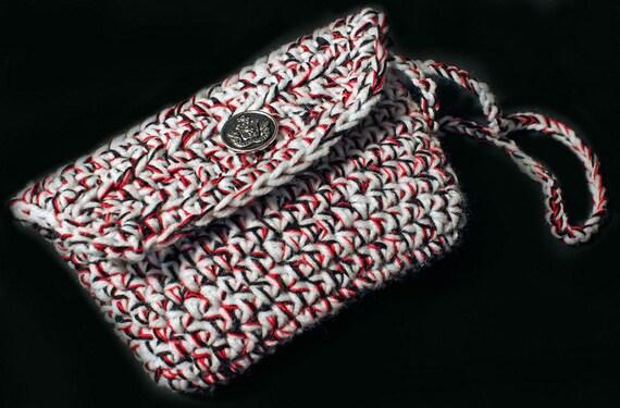 Crochet Wristlet Purse Bag by ADKArtsBoutique on Etsy