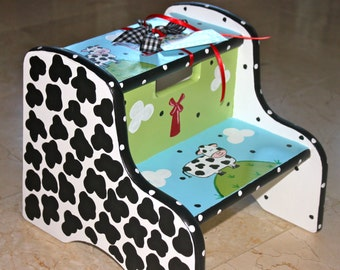 Hand Painted Child's Step Stool