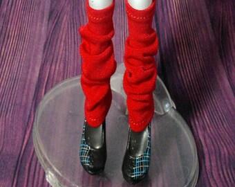 Dolls legwarmer for Barbie, FR,Silkstone, monster high doll - Red No.651