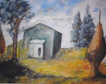 SALE - Fazenda by Leomar - (Farm) - 2007 – Oil on Canvas – 30cm x 40cm
