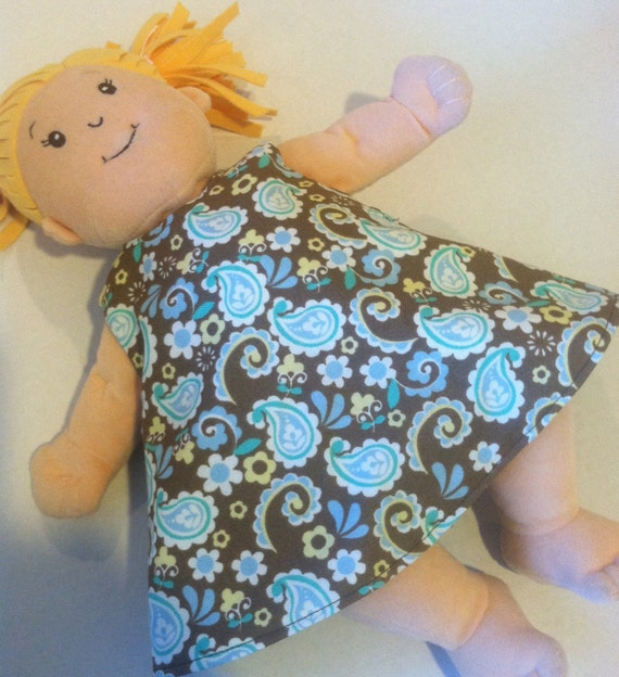 Fits Baby Stella or Rosy Cheeks Doll 2 in 1 Reversible Dress