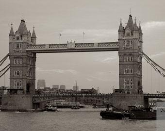 Photo print:  Tower Bridge, London. Bridge photography. London landmark photography.