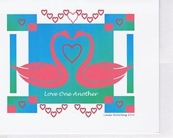 Inspirational Love One Another 10-pack Notecards or Framed Print