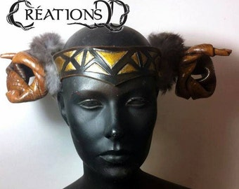 Headgear with horns