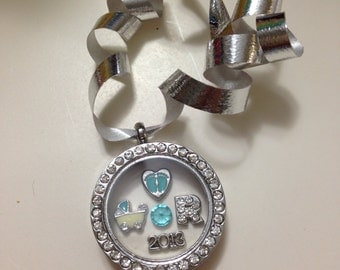 Personalize baby boy first Christmas ornament joy of shopping Locket