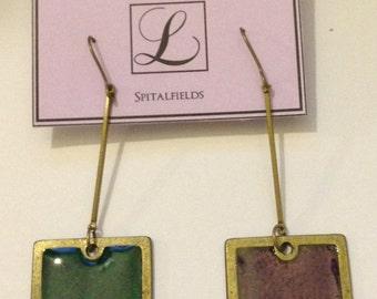 Handmade enamel earrings
