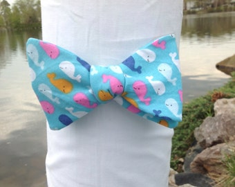 Whale Themed Bow Tie