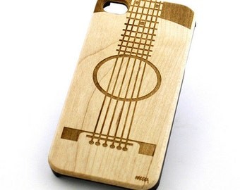 W52 Wood Case for Apple Iphone 5C - Guitar