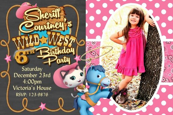 20 Sheriff Callie Birthday Invitation Rodeo Party Invitations