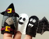 Five Felt Finger puppets / fridge magnet