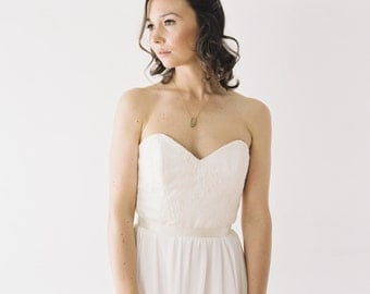 Kristy // Refined Lace and Chiffon Wedding Dress