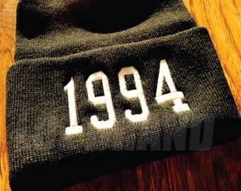 Custom Year Beanie 1994 JUSTIN BIEBER inspired 1993, 1992, 1990, ETC
