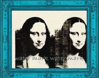 Art Print Mona by Andy Warhol