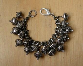 Chunky Tribal Metal Baubles Bracelet