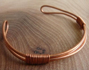 Triple Copper Wire Bracelet / Copper Bangle.