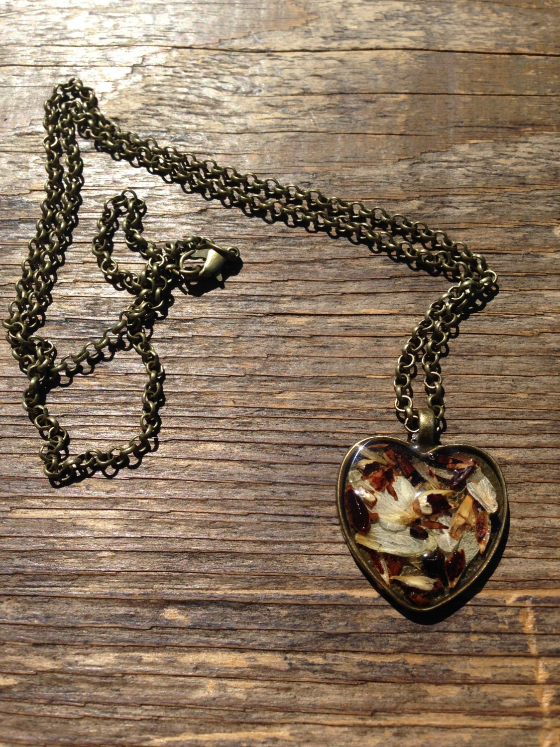 Brewelry: Heart Hops and Barley Pendant