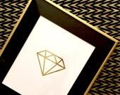 Diamond Print  |  White