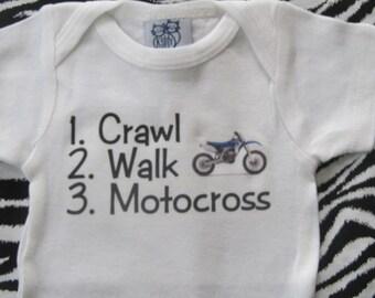 Motocross baby shirt, motocross baby one piece, future motocross rider, motocross baby boy, motocross baby bodysuit, motocross baby gift