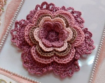 Crochet flower applique CH-003-01