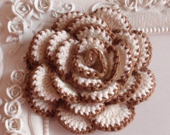 Crochet flower applique CH-022-03