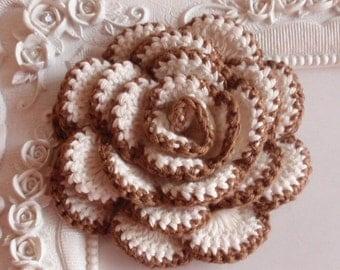 Crochet flower applique CH-022-03