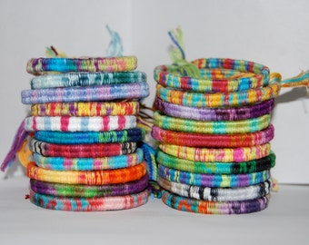 Multi-Color Wrapped Friendship Bracelets