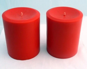 Pillar candles, candle centerpiece, soy candle pillar, unscented candle, christmas candle, wedding candle, holiday candle