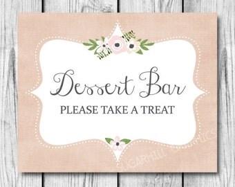 Wedding Sign, Printable Wedding Sign, Wedding Dessert Bar Sign, Wedding Signage, Dessert Bar Sign, Wedding Decor, Wedding Signage