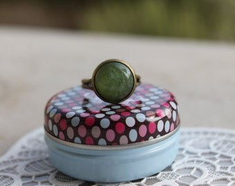 olive green SPARKLY ring