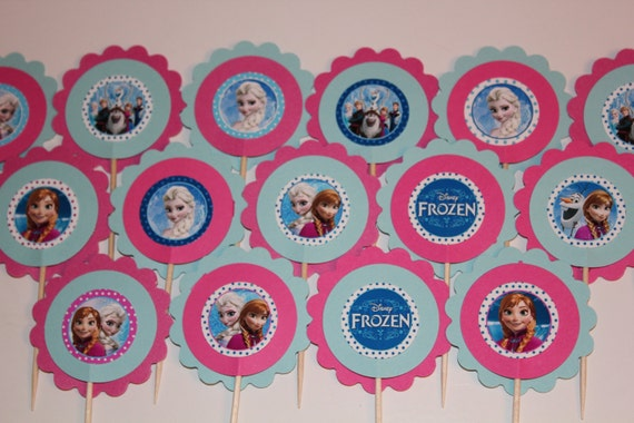 Frozen Inspired Cupcake Toppers - set of 24