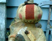 Primitive Folk Art *The Pumpkin King* 26 inch Doll with Crow PDF epattern *Halloween* Fall* -Hafair Team--FAAP